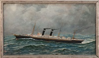 the steamship new york by antonio jacobsen