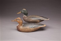 mallard (pair) by lemuel t. and stephen ward