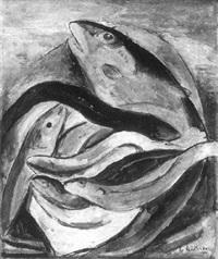 stilleben mit fischen by heinrich heidner