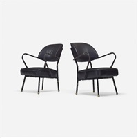lounge chairs (pair) by jacques adnet