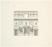 architectural and decorative design for the interior of houghton hall, norfolk by william kent