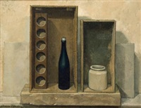 cajas con objetos sobre una diagonal by alvaro toledo