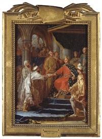 saint louis recevant les ambassadeurs des tartares by nicolas guy brenet