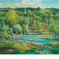 the old mills by charles reiffel
