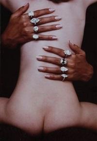 diamants harry winston, vogue paris, janvier 1969 by guy bourdin