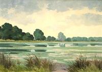 paysage, l'étang de st. paul de varax by robert yan