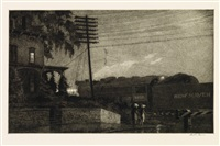 the passing freight, danbury by martin lewis