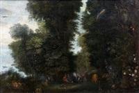 repos de paysans dans un sous-bois by jan brueghel the younger