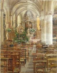 mois de mai à l'église de dilbeek by pierre abattucci
