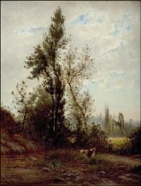 paimentyttö by alexandre-charles-joseph gittard