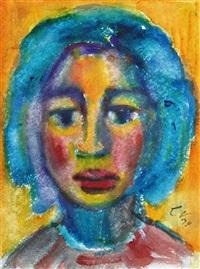 mädchenkopf (selbstporträt?) by christa valazza