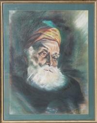 man in turban by lisa corinne davis