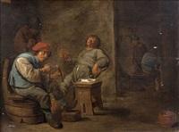 fumeurs dans un intérieur paysan by david teniers the younger