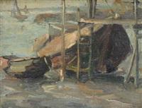 bateaux près de l'estacade by kurt peiser
