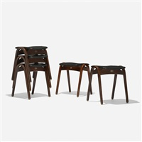 set of five stools (set of 5) by isamu kenmochi