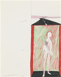 landscape and man by david hockney