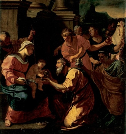 the adoration of the magi by charles errard the elder