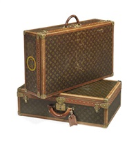 alzer suitecases (2 works) by louis vuitton