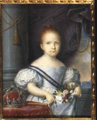 isabel ii, queen of spain and the indies by luis de la (el canario) cruz y ríos