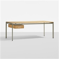 academy desk for the school of architecture at the royal academy, copenhagen by poul kjaerholm