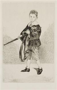 l'enfant à l'épée tourné à gauche by édouard manet