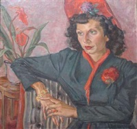 portrait d'une dame au chapeau rouge by matisse