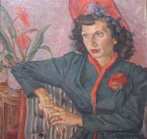 portrait dune dame au chapeau rouge by matisse