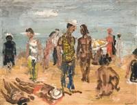 personnages sur la plage by paul maas