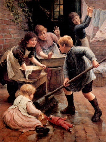 washing day by thomas liddall armitage