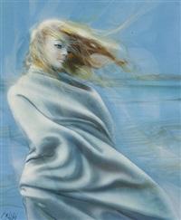 femme dans le vent by jean-baptiste valadie