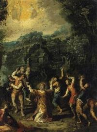 die steinigung des heiligen stephanus by johann (hans) konig