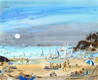 plage au port blanc by alain bailhache