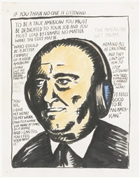 untitled (if no one is listening...) by raymond pettibon