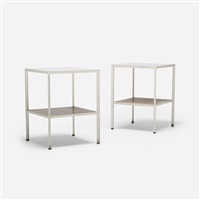 steelframe nightstands (pair) by george nelson & associates