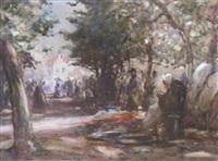 belgian street market by thomas william morley