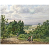 landscape with peasants by p. klodt