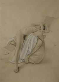 desnudo acostado despues del baño by darío morales
