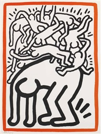 fight aids worldwide by keith haring