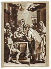 circoncisione di nostro signore by giuseppe (salviati) porta