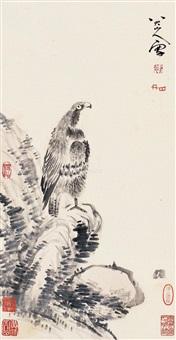 鹰 立轴 纸本 by bada shanren