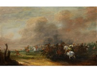 schlacht bei lesnaja am 28. september 1718 by jan-peter van bredael the younger