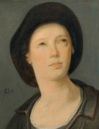 porträt eines jungen mannes mit hut by cornelis cornelisz van haarlem