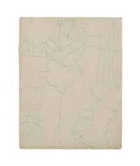 untitled (standing nude) by milton avery