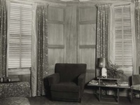 harold grieve interior (+ harold grieve interior with chairs; 2 works) by margrethe mather