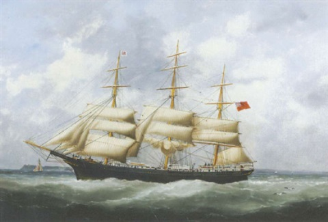 the austriana under reduced sail by edouard the younger adam