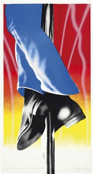 expo 67 mural-firepole 33 x 17 by james rosenquist