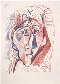 visage de femme de face by pablo picasso