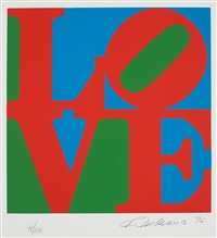 the book of love: one plate by robert indiana
