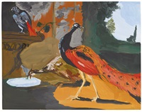 exotic birds ii (eating breakfast) by karen kilimnik