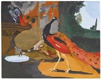 exotic birds ii (eating breakfast) by karen kilimnik